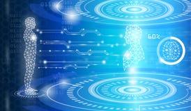 Tecnologia con scienza in futuro illustrazione di stock