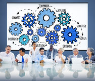 Tecnologia Conce de Team Functionality Industry Teamwork Connection imagem de stock royalty free