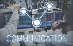 Tecnologia Concep da globalização da conexão das comunicações globais fotos de stock royalty free