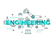 Tecnologia, costruente concetto piano di vettore royalty illustrazione gratis