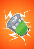 Tecnologia da bateria ilustração royalty free