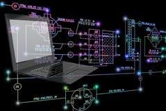 tecnologia da engenharia da E-conexão Fotos de Stock Royalty Free