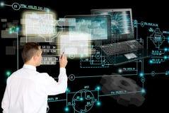 tecnologia da engenharia da E-conexão colaborador Imagem de Stock Royalty Free