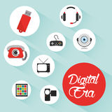 Tecnologia da era de Digitas Imagem de Stock Royalty Free