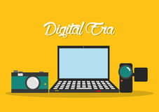 Tecnologia da era de Digitas Fotografia de Stock Royalty Free
