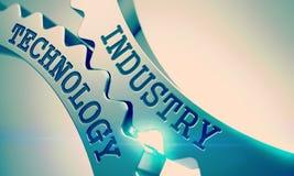 Tecnologia da indústria Engrenagens brilhantes da roda denteada do metal 3d Foto de Stock Royalty Free