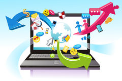 Tecnologia da informação ilustração royalty free