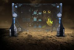 Tecnologia da informação, dados, negócio, ficção científica Foto de Stock