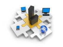 Tecnologia da informação do mundo Foto de Stock Royalty Free