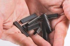Tecnologia da informação - microplaquetas foto de stock