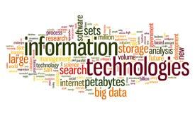 Tecnologia da informação na nuvem da etiqueta Fotografia de Stock