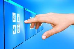 Tecnologia da tela de toque. fotos de stock royalty free
