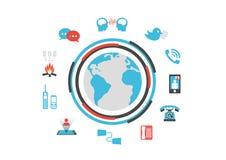 Tecnologia de comunicação isolada Foto de Stock Royalty Free