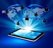 Tecnologia de comunicação moderna com tabuleta ilustração royalty free