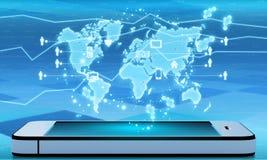 Tecnologia de comunicação moderna com telefone celular Fotografia de Stock