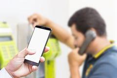 Tecnologia de comunicação no estilo de vida fotografia de stock royalty free
