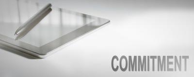 Tecnologia de Digitas do conceito do negócio do COMPROMISSO foto de stock