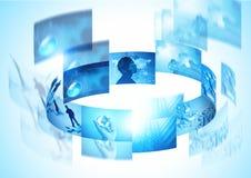 Tecnologia de giro Fotografia de Stock Royalty Free