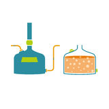 Tecnologia de Infographics da produção da cerveja ilustração do vetor