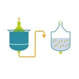 Tecnologia de Infographics da produção da cerveja Imagens de Stock