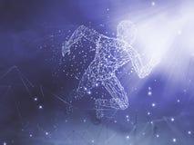 Tecnologia de inteligência artificial ilustração royalty free