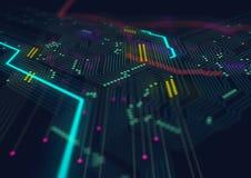 Tecnologia de material informático eletrônica projeto do molde foto de stock
