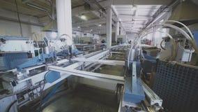 Tecnologia de produção da janela do PVC Soldadura de perfis do PVC video estoque
