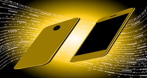 Tecnologia de rede do mundo uma comunicação móvel da tecnologia ilustração do vetor