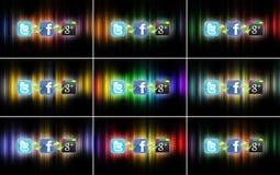 Tecnologia de rede social Foto de Stock