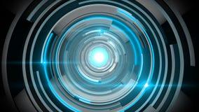 Tecnologia del blu del cerchio Immagine Stock