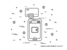 Tecnologia del cellulare della carta illustrazione vettoriale