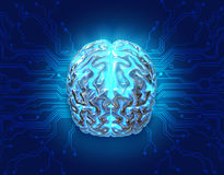 Tecnologia del cervello Fotografia Stock