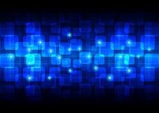 Tecnologia del fondo di rettangolo arrotondata estratto Immagine Stock