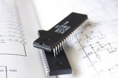 Tecnologia del microchip fotografie stock