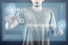 Tecnologia del touch screen Immagine Stock
