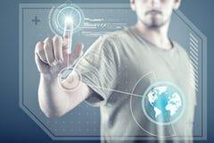 Tecnologia del touch screen Immagini Stock