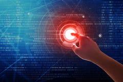 Tecnologia del touch screen immagini stock libere da diritti