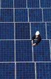 Tecnologia dell'accumulazione del comitato solare Fotografia Stock Libera da Diritti