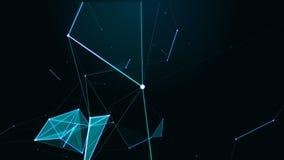 Tecnologia dell'estratto di fantasia del plesso Geometrico astratto Stella royalty illustrazione gratis