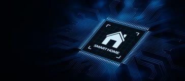 Tecnologia dell'innovazione del sistema di controllo di automazione dello Smart Home fotografia stock libera da diritti