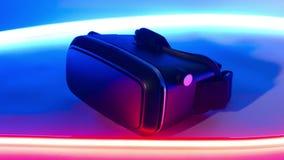 Tecnologia dell'innovazione di gioco della cuffia avricolare di realtà virtuale nuova stock footage
