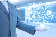 Tecnologia dell'uomo d'affari Immagine Stock
