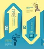 Tecnologia della comunicazione della freccia di Infographics. Fotografia Stock Libera da Diritti