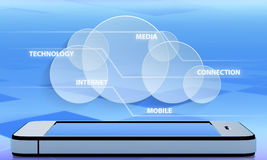 Tecnologia della comunicazione di astrazione Immagini Stock