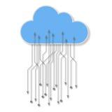 Tecnologia della nube Immagini Stock