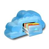 Tecnologia della nuvola Fotografia Stock