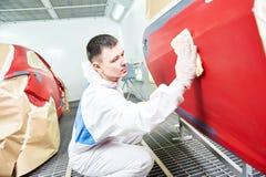 Tecnologia della pittura dell'automobile immagini stock