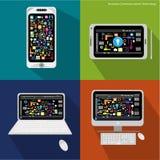 Tecnologia delle comunicazioni di affari di vettore Fotografia Stock