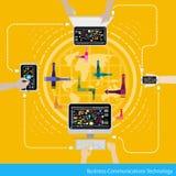Tecnologia delle comunicazioni di affari di vettore Fotografia Stock Libera da Diritti