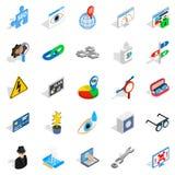 Tecnologia delle icone future messe Immagine Stock Libera da Diritti